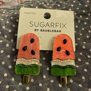 Baublebar watermelon 🍉 earrings summer NWT